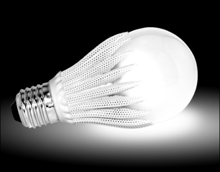 An example of an LED light used to replace standard lighting bulbs
